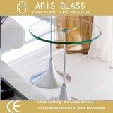 6mm passten ovale Form-Tisch-Oberseite-ausgeglichenes Glas-polierte Ränder an