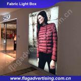 La tela del poliester de la sublimación del tinte que hace publicidad del rectángulo ligero del LED, visualiza el rectángulo ligero