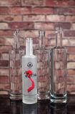 botella redonda de la vodka 750ml helada e impresa