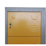 黄色い低価格の金属の鋼鉄ロッカー