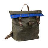 Backpack уравновешивания кожи холстины Softback сбор винограда фабрики рюкзак оптового водоустойчивого задействуя