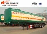Semi-remorque liquide de camion-citerne d'acier du carbone de 3 essieux