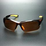 Anti-Rayer les lunettes de sûreté de lentille de Brown de PC (SG131)