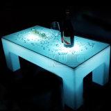 Mesa de chá iluminada multi-cores de quatro pés para a sala de estar