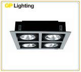 Projector Recessed da grade com a lâmpada AR111 para a iluminação interior/anúncio publicitário/hotel (RDG111-3)