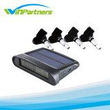 Sistema sem fio digital Sistema TPMS solar Quatro rodas com sensor de pneu interno para carro,