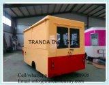 Furgonetas de encargo de la venta del sofá de la cabina del alimento del carro resistente del abastecimiento