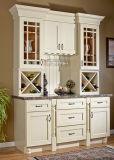 ヨーロッパ式の現代デザイン純木の食器棚