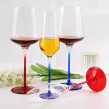 Cubilete claro del vidrio de flauta de champán para el vino rojo