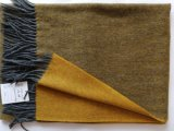 Cashemre Wool Thin Reversible Woven Brushed Shawl