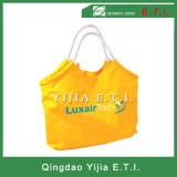 Saco de Tote Zippered da praia do PVC com fechamento superior do Zipper