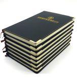 Leder-verklemmter Zapfen/Leder-verklemmtes Notizbuch/lederner Notizbuch-Deckel