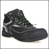 Zapatos de seguridad con estilo de cuero de Microfiber del alto tobillo