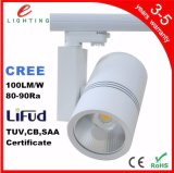 20W 30W 40W 50W Dimmable COB Track Light DEL