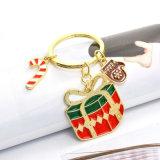 Anello chiave multicolore della catena chiave del regalo di natale della renna dello smalto