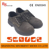 Suede Leather Protective Work Shoes Segurança Rubber Sole Labour Shoes