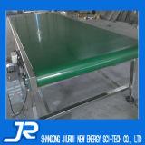 180 graus industrial que giram o transporte de correia verde do PVC