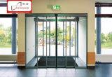 Автоматическая телескопичная раздвижная дверь (1071.104), дверь алюминиевой рамки стеклянная, дверь Frameless телескопичная стеклянная