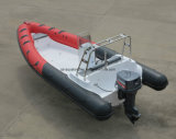 Aqualand 21.5feet 6.5m Fibra de vidro Rigid Inflatable Boat / Rib Sports / Diving / Rescue / Patrol Boat (rib650b)