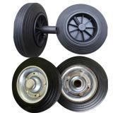 بلاستيكيّة أو فولاذ حاسة عجلة صلبة مطّاطة
