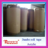 Adhesive e BOPP acrílicos Self Adhesive Packing Tape Jumbo Roll