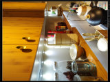 2015 de Moderne Onverbrekelijke Aangemaakte Keukenkast van het Glas Welbom