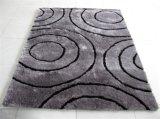 Do poliéster Shaggy longo da pilha do projeto moderno tapete de seda do assoalho