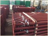 Suporte do andaime de Pólos da sustentação do metal/sustentação de tubulação pintados
