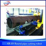Découpage de plasma de commande numérique par ordinateur Oxy et machine taillante pour le tube d'alliage en métal de pipe en acier