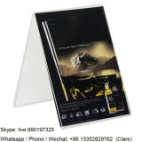 V Shape Clear Acrylic Pictures Display Stand