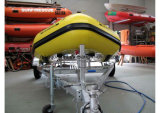 Aqualand 17feet 5.3m Hypalon Rubber Boat/nave di soccorso di Semi-Rigid Inflatable (aql-530)