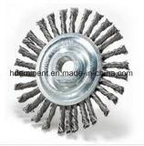 escova Twisted da roda do fio da fileira dobro de 300mm para a limpeza da solda