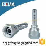 Embout de durites hydraulique femelle de Bsp de zinc d'acier du carbone de 22611 normes pour des machines