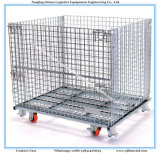 Стальной контейнер паллета ячеистой сети для хранения пакгауза