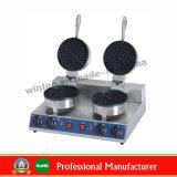 Padeiro do Waffle do aço inoxidável do equipamento do petisco da alta qualidade de Wintoo único