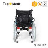 Cadeira de rodas de dobramento elétrica manual do equipamento médico com controlador da página