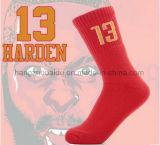 El algodón de calidad superior se divierte calcetines de los hombres del baloncesto