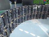 곡선 조절기 내각을%s 가진 P3.91 풀 컬러 유연한 LED 스크린 500 * 500 mm/500 * 1000 mm