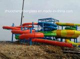 Diapositivas grandes de la piscina de la fibra de vidrio de la combinación