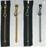 Zipper plástico do fabricante para sacos de vestuário matéria têxtil e sapatas