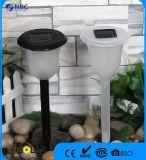 Luz solar plástica blanca o negra del jardín de la luz del césped
