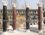 Coluna romana com arenito de granito de mármore de pedra (QCM118)