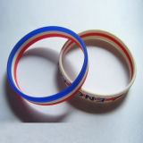 Alta calidad Plastic Gift Promotional 3D Silicone Bracelet (SB-010)