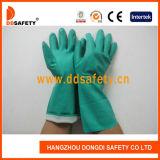 Ddsafety 2017년 유럽 표준 녹색 니트릴 화학 산업 장갑