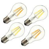 E27 A60 8W calientan la lámpara blanca blanca AC220V/110V del bulbo del globo de Dimmable de la MAZORCA del filamento LED