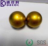 De gouden Holle Bal van het Roestvrij staal van de Tuin van de Kleur voor Tuin verfraait