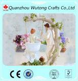 Centri su ordinazione della Tabella dei Figurines delle coppie di cerimonia nuziale della resina che Wedding decorazione