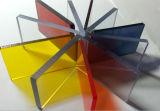 Matiz de color transparente Hojas Hoja de acrílico PMMA de mesa