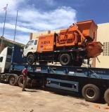 Caminhão forçado bomba concreta montada com o misturador para a construção V8