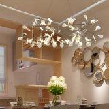 유럽 장식적인 백색 아크릴 잎 샹들리에 빛